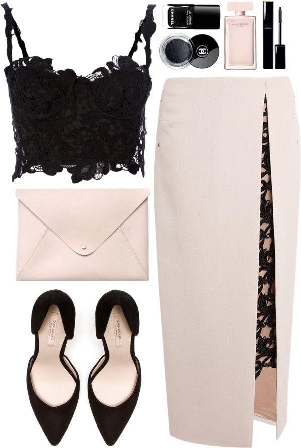 Love the lace insert in the skirt split