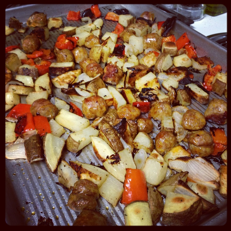 Roasted Sausage, Potatoes, and Peppers | Food | Pinterest