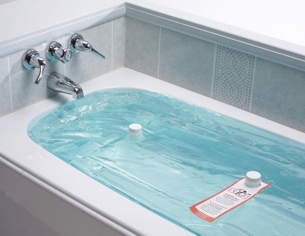 In an emergency you can even drink your bath water. waterBOB - Emergency Bathtub Drinking Water Storage