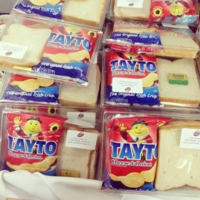 Tayto crisp sandwiches favours
