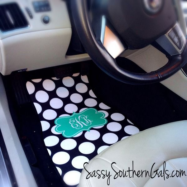 Monogrammed Car Mats Personalized Car Mats From Sassy Southern