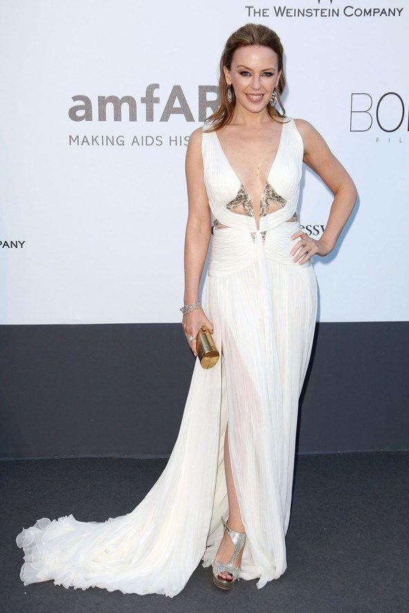 Gala amfAR: Kylie Minogue en Roberto Cavalli y joyería de Chopard