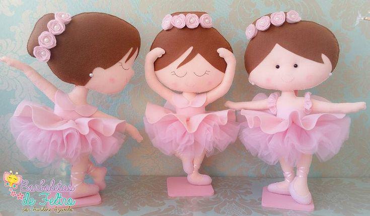 Bailarinas em feltro Feltro Bailarinas