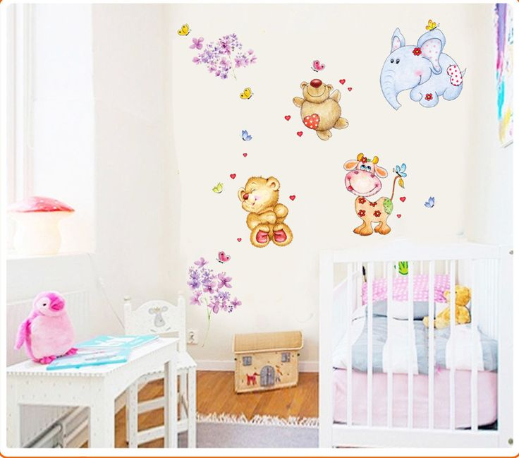 Bebek ve Çocuk Odası Dekorasyonu Kendinden Yapışkanlı PVC Duvar Sticker