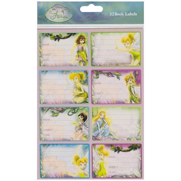 Disney Fairies Book Labels