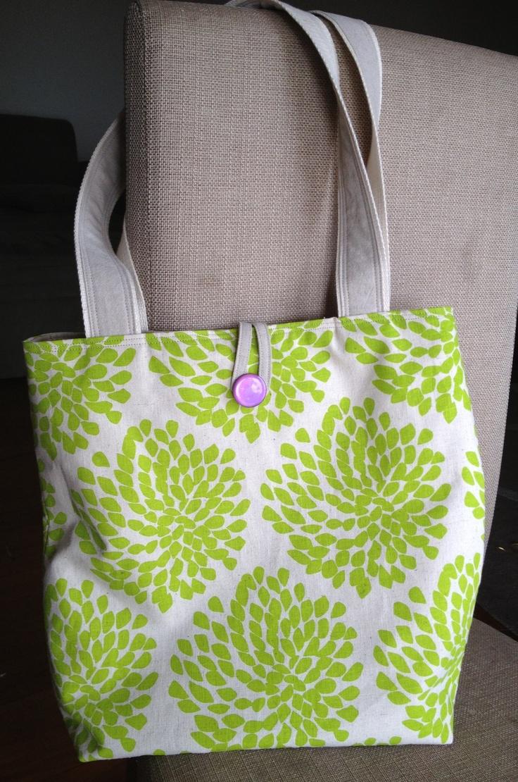 Tote bag by JuMi Creations- using Danielle Stewart Designs screen printed fabric