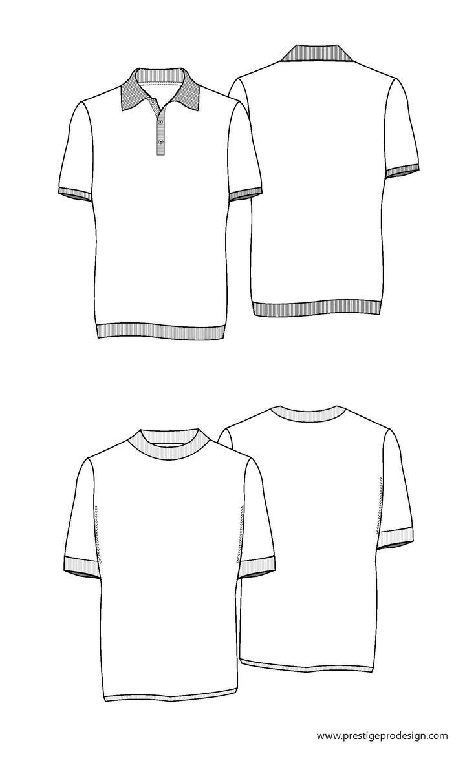 Shirt design sketches - Classic