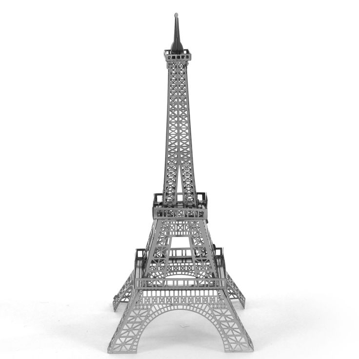 Eiffel Tower Fun 3d Metal Diy Miniature Model Kits Puzzle Toys Children  Educational Boy Splicing Science