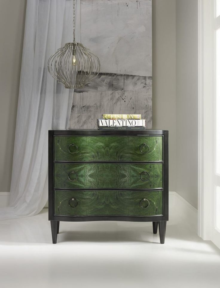 The Melange Tolli 3 Drawer Chest Has A Dimensional Painted Front In A Deep  Jewel