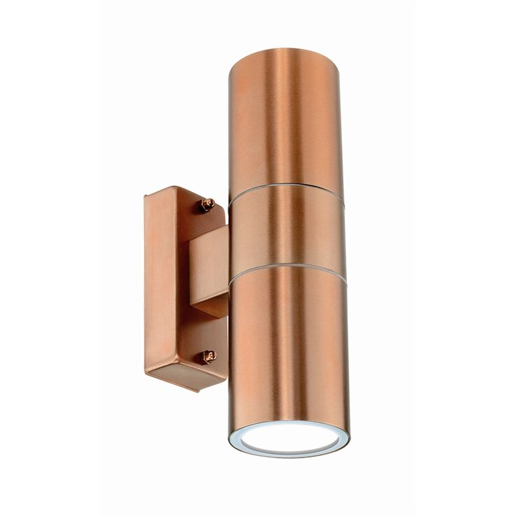 Brilliant Copper Coolum Up Down Exterior Wall Light