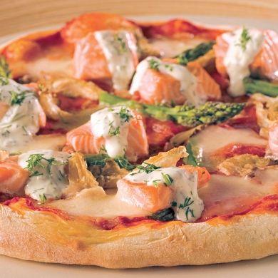 Pizzas au saumon - Soupers de semaine - Recettes 5-15 - Recettes express 5/15 - Pratico Pratique