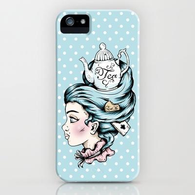 Teapot Lady  iPhone Case by Ella Mobbs - $35.00