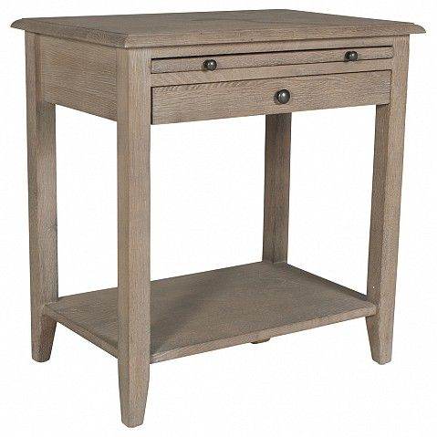 Country farmhouse bedside table with shelf and draw - Trade Secret