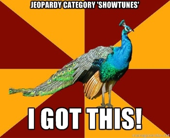 Thespian peacock meme