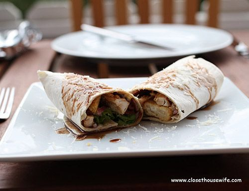 Quick and Easy yet fit for guests Chicken Ceaser Wraps with Balsamico-Honey Vinaigrette