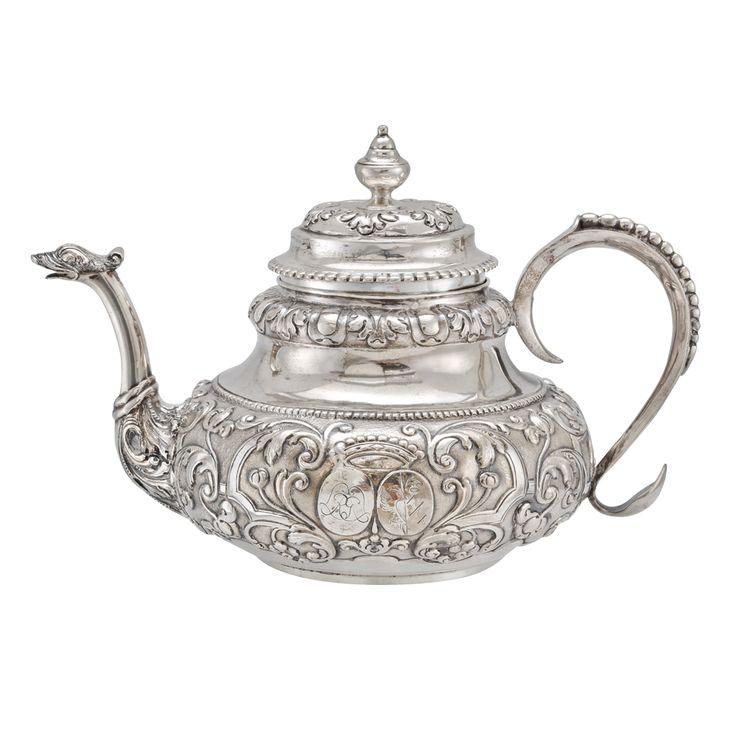 Estate Betteridge Collection Antique Dutch Silver Tea Pot