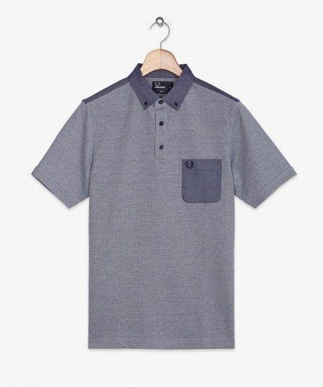 Fred Perry - Oxford Trim Pique Shirt
