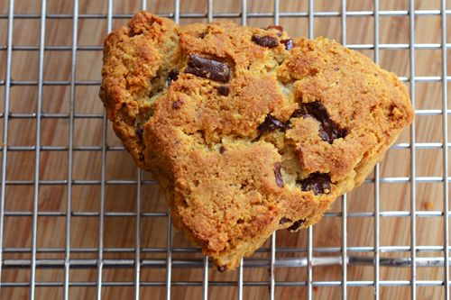 grain free dark chocolate and cherry scones