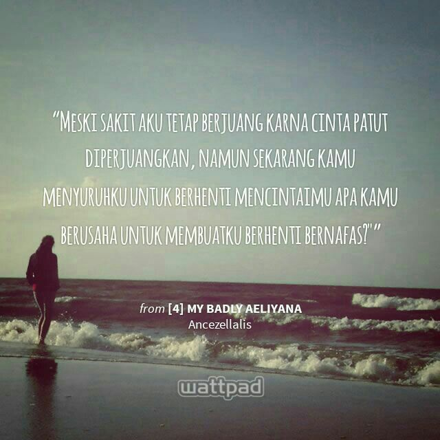 I can't breathe without you. Watty.