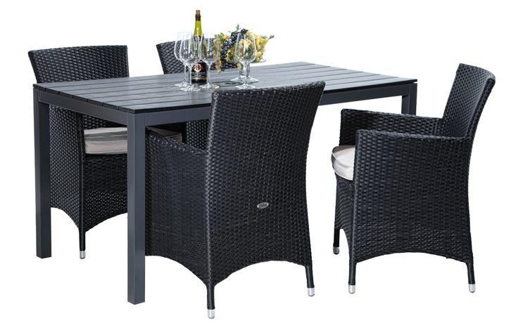 Asko - LAGUNA-pöytä ja 4 VILA-tuolia