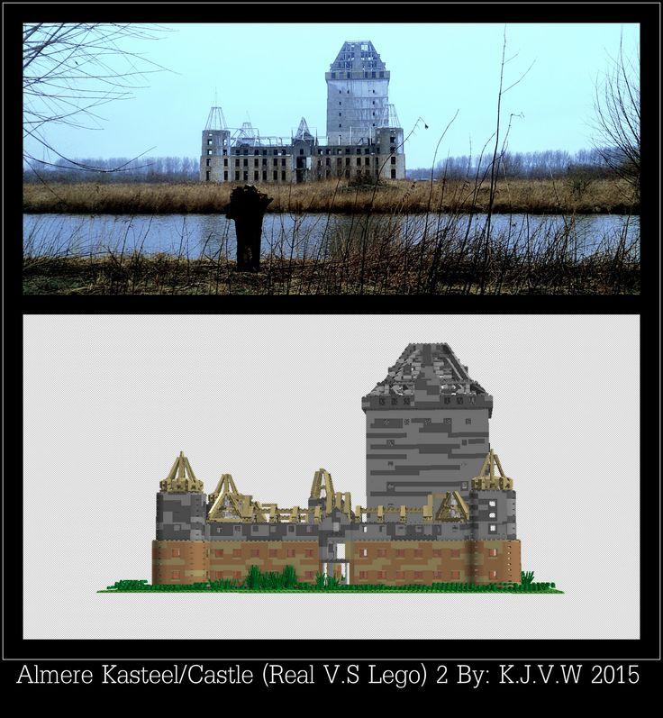 https://flic.kr/p/xuZr1U | Kasteel Almere (Lego V.S Real) 2 | Part 2