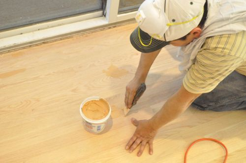Exceptional After Sanding, The Guys Used Woodwise Wood Filler To Fill Nail Holes And  Any Noticeable Cracks. | Floor Refinishing | Pinterest | Fill Nail Holes,  ...