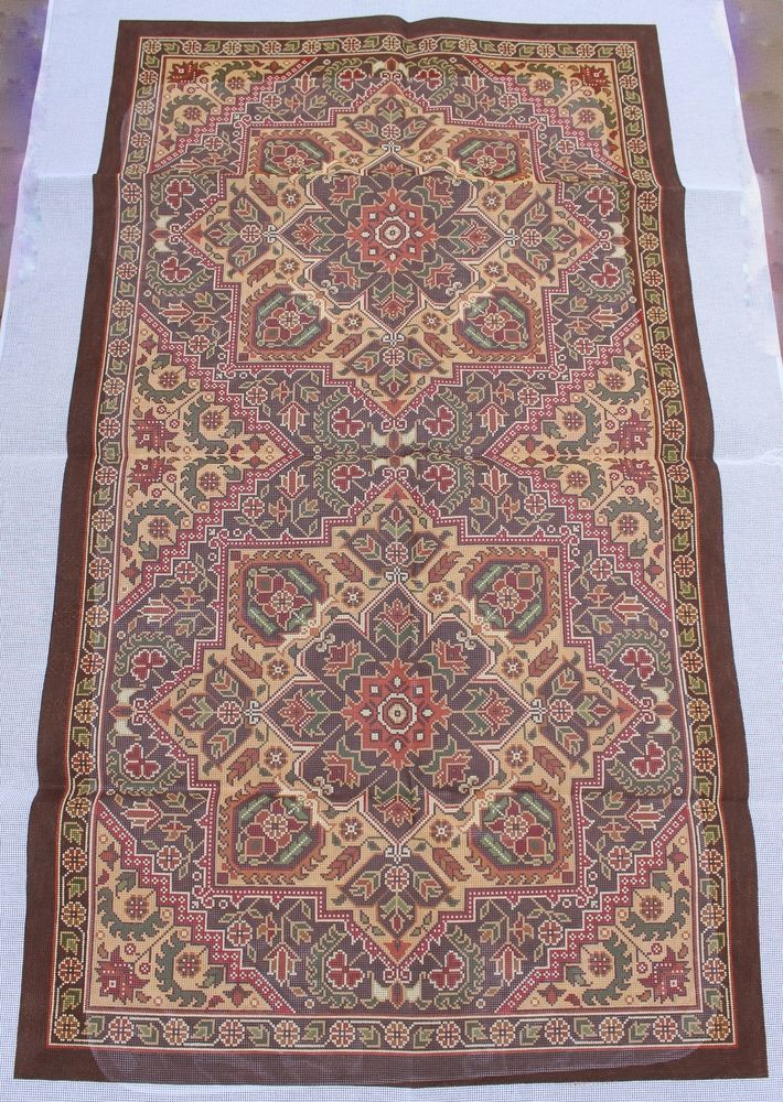 CanvasWorks R5B Heriz B Two Repeat Rug Hand Painted Needlepoint Canvas #CanvasWorks
