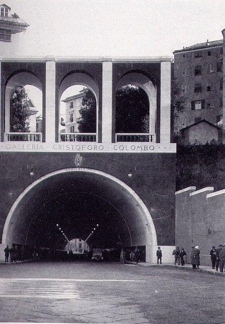 1934 - 1940 GENOVA (GE) TESTATA GALLERIA CRISTOFORO COLOMBO by GIULIO ZAPPA