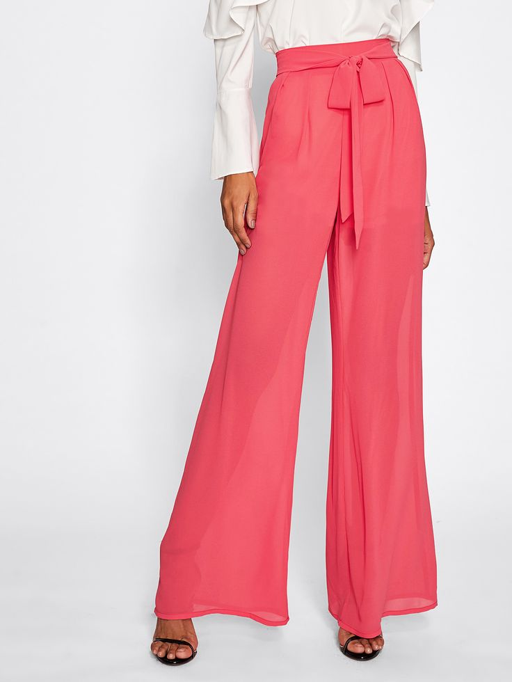 Shop Self Belted Palazzo Pants online. SheIn offers Self Belted Palazzo Pants & more to fit your fashionable needs.