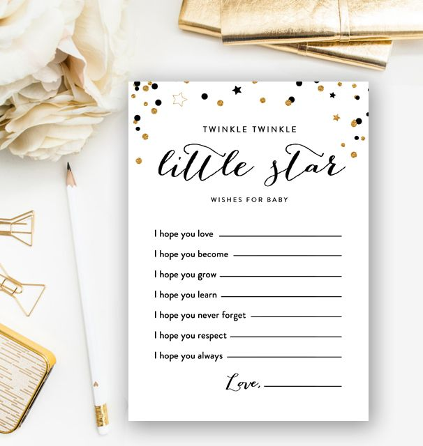 INSTANT DOWNLOAD Twinkle Little Star Baby Shower Bingo game printable digital gold stars sprinkle party co ed shower couples