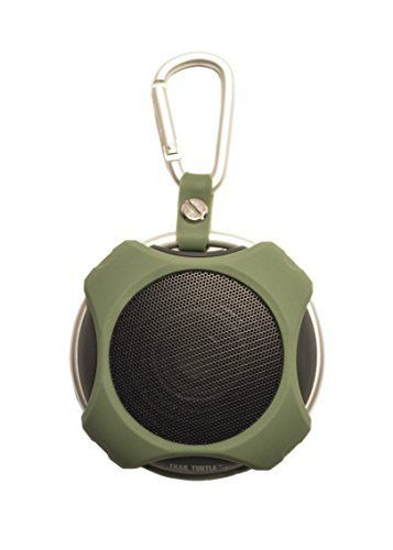 Portable Bluetooth Speaker Lil' Snapper (Green) - Best in Class Sound - Rugged for Outdoor Use - Satisfaction Guaranteed!. Charges with standard USB micro cable. First-in-class small speaker sound. 40mm, 3W speaker, Bluetooth 4.0. Easy connection and music play control. IPX5 water resistance.