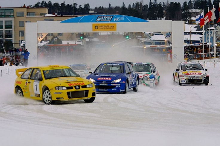 Dani Snobeck. SEAT Córdoba. International Racing Ice Series. Finland 2001