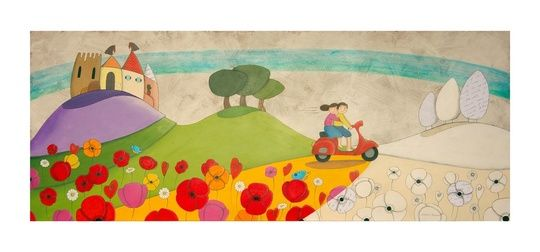 """""Senza Meta"" ""Aimlessly"""" by cinzia mazzoni on #INPRNT - #illustration #print #poster #art"