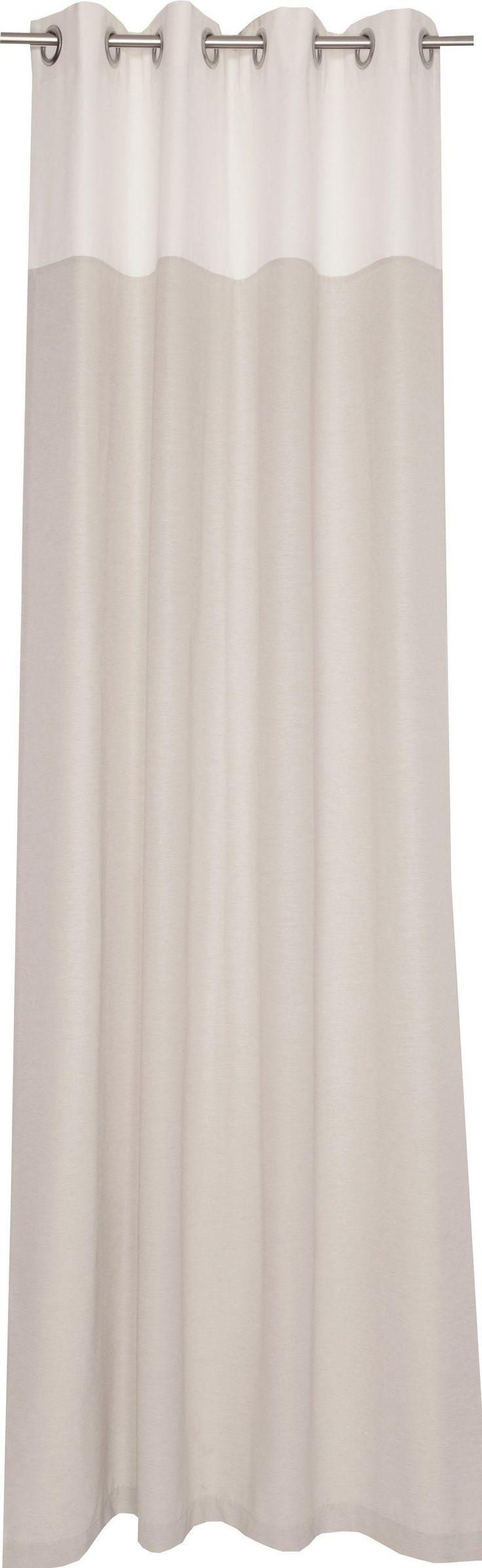 Vorhang, Schöner Wohnen, »Mono«, mit Ösen (1 Stück) ab 40,09€. Blickdichter Stoff, matt, Leichte Qualität, Ösenvorhang, gewebt ,mit farbiger Blende oben bei OTTO