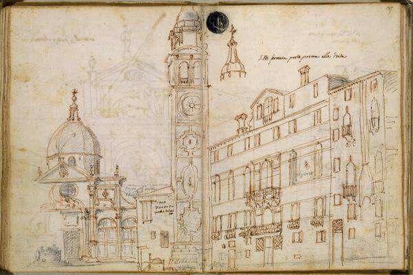 Schizzi urbani di Canaletto