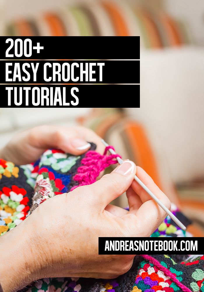 The motherload of EASY crochet tutorials and projects!