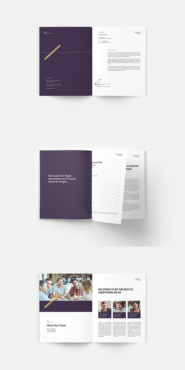 Architecture Proposal Template Brochure Indesign Brochuretemplate Templates