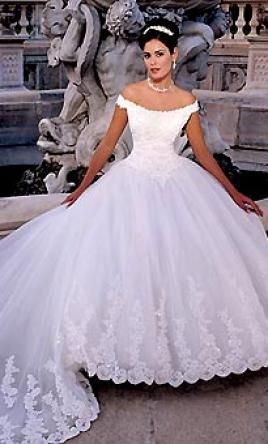 90's style wedding dress