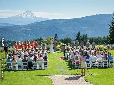 Gorge Crest Vineyards Underwood Weddings Washington State Wedding Venues 98651