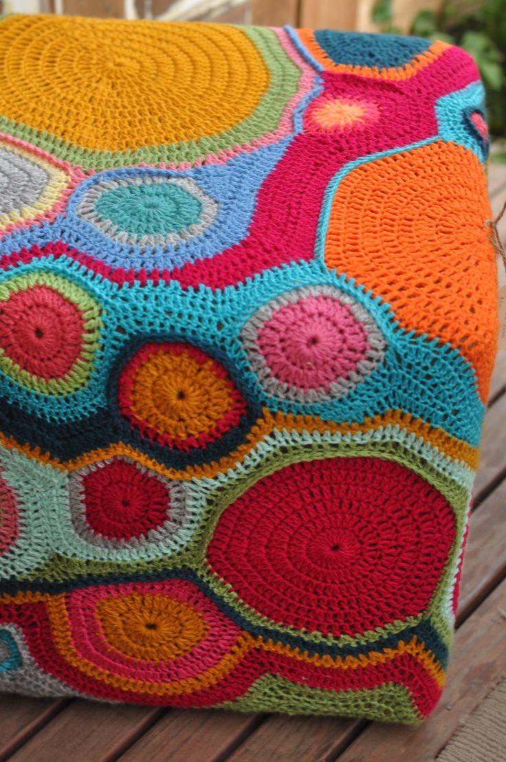 Crochet ottoman- Maree Evans