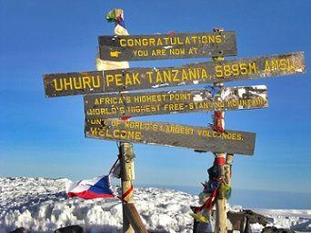 Summit of Kilimanjaro.