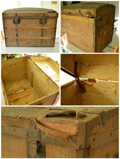 Les 25 meilleures id es de la cat gorie coffre ancien sur for Renover un vieux meuble en bois