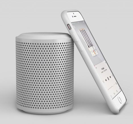 """Blond designs portable speaker and charging tray for """"interior conscious consumer"""""""