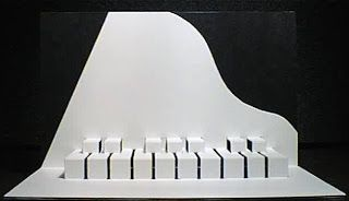 piano pop up card scroll down for template