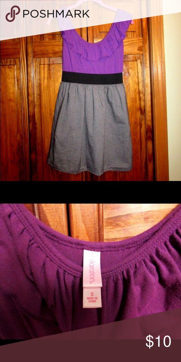 Xhilaration Dress Size: Small, Lightly Used, Top: 60% Polyester, 36% Rayon, 4% Spandex, Bottom: 100% Cotton, Very cute fit & flare style! :) Xhilaration Dresses Mini