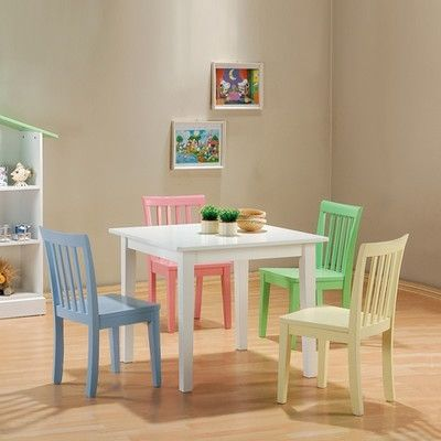 5 Piece Corine Kids table & chair set R1599.00. Shop online @www.shannenliving.co.za