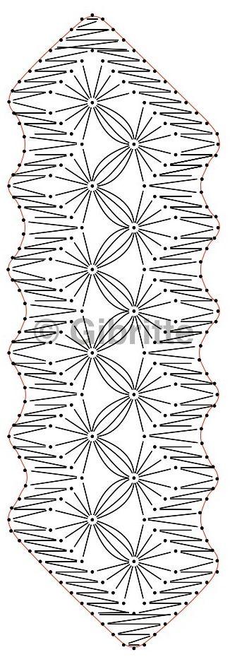 Enfin, je l'ai fait! Ce modèle vient de l'étude des araignées, le trouvant un peu simpliste, je l'ai abandonné. Mais je ne pouvais ainsi sauter un numéro, j'ai repris l'ébauche du carton et voici ce qui en est sorti: Ensuite j'ai garni mes fuseaux avec...
