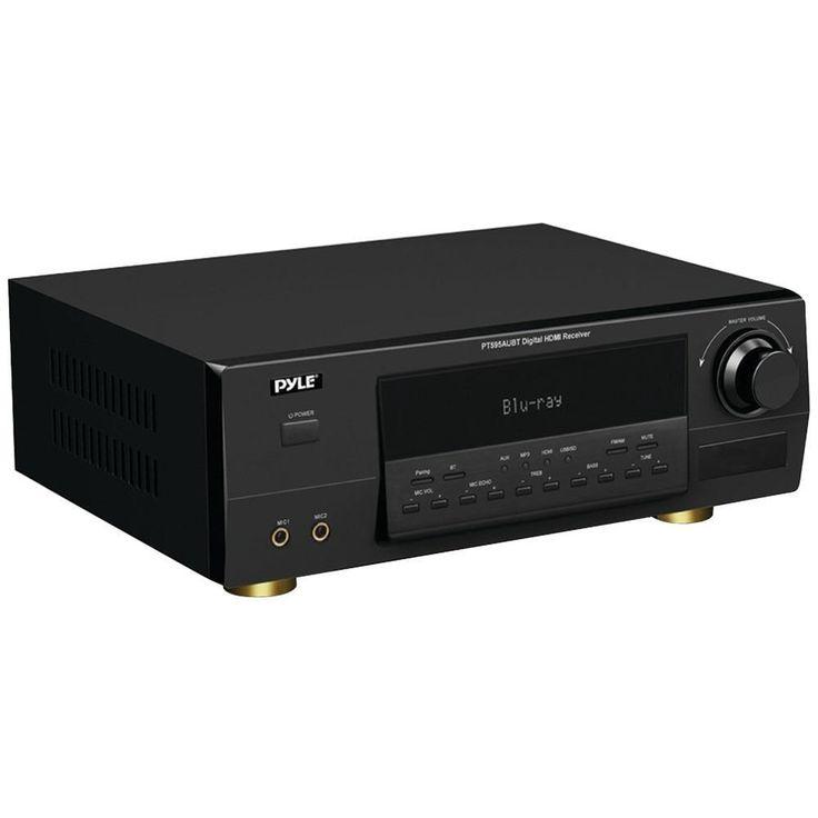 PYLE PT595AUBT Bluetooth(R) 5.1-Channel 350-Watt HDMI(R) Digital Amp with Receiver