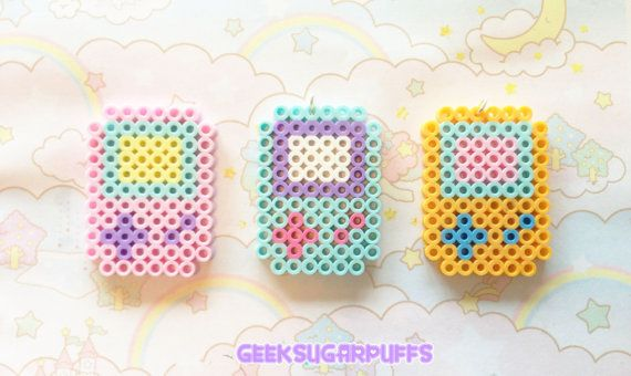Kawaii Pastel Necklace 8 bit Gameboy Color