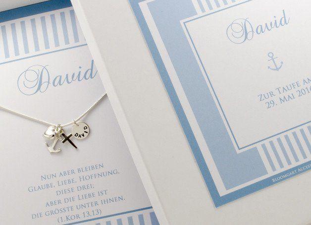 Namensketten - NAMENSKETTE GRAVUR Taufkette Glaube Liebe Hoffnung - ein Designerstück von Bloomgart bei DaWanda